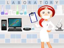 Chemist Girl Stock Illustrations.