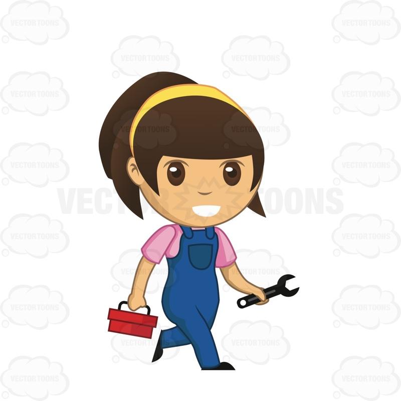 Girl Technician Clipart.