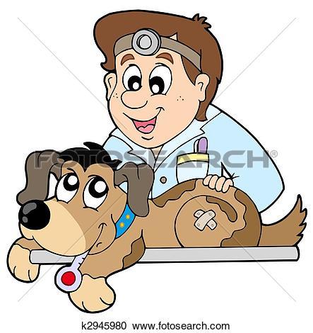Clip Art of Two cartoon doctors k2946012.