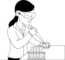Free Black and White Science Outline Clipart.
