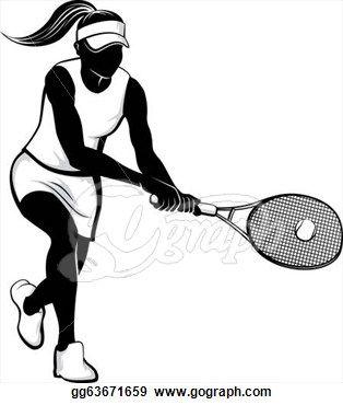 girl tennis clipart.