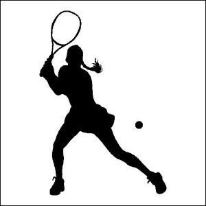 tennis female outline.