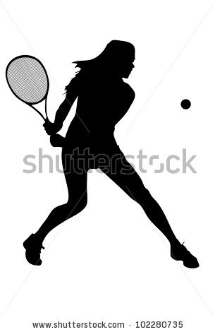 Tennis Silhouette Stock Images, Royalty.