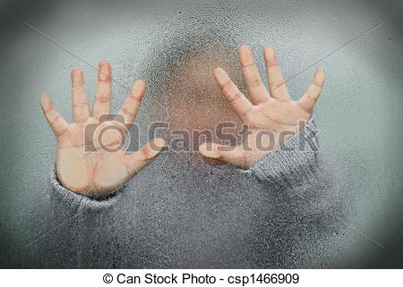 Stock Photographs of Trapped Child.