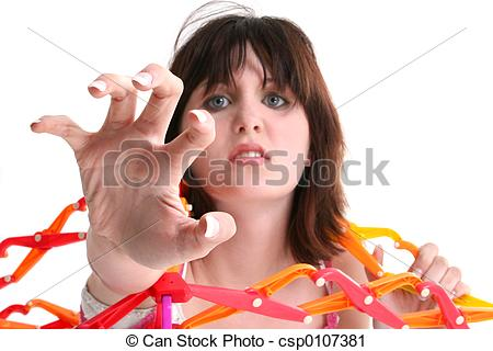 Stock Photography of Teen Girl Fear Angry.