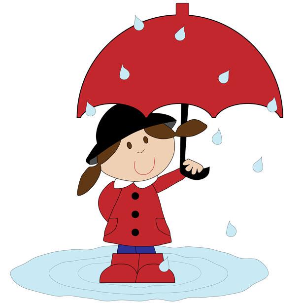 Girl Umbrella Clipart.