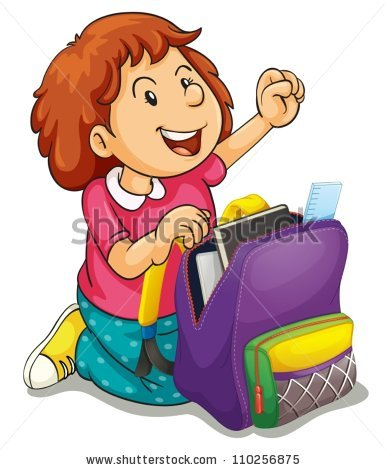 Cartoon Boy School Bag Vector Illustration Stock Vector 73269838.