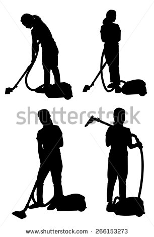 Cleaning Silhouette Stock Images, Royalty.
