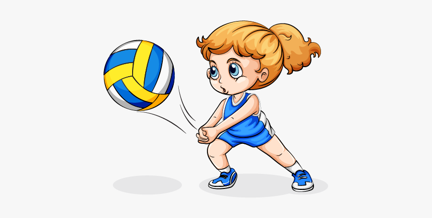 Volleyball Play Girl Clip Art.