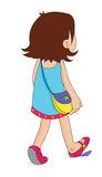 Girl Walking Away Stock Illustrations.