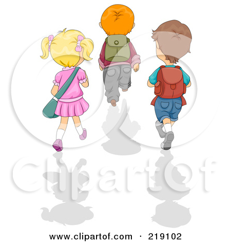 Girl Walking Away Clipart.