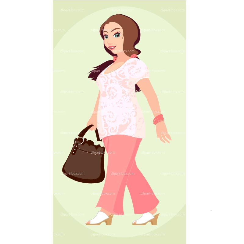 CLIPART GIRL WALKING.