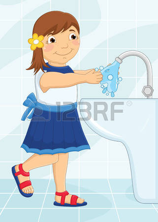 3,090 Washing Hands Cliparts, Stock Vector And Royalty Free.