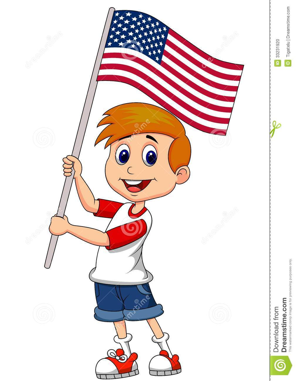 Showing post & media for Girls with american flag cartoon.