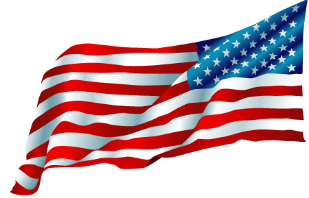 Us Flag Waving Clipart.