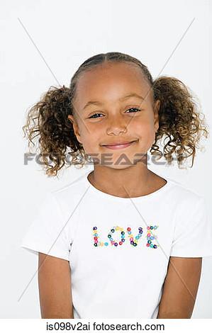 Girl Wearing White T Shirt Clipart.