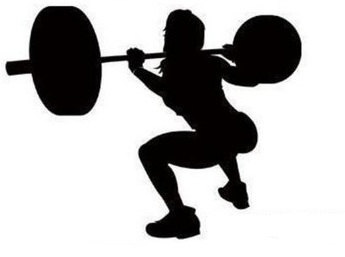 Weight Lifting Girl Silhouette.