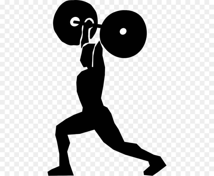 Free Woman Lifting Weights Silhouette, Download Free Clip.