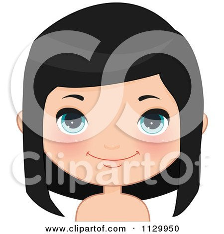 Royalty Free Black Hair Illustrations by Melisende Vector Page 1.