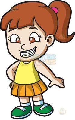 orthodontic braces Cartoon Clipart.
