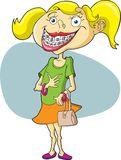 Girl Braces Stock Illustrations.