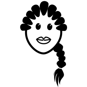 girl in braids clipart, cliparts of girl in braids free.