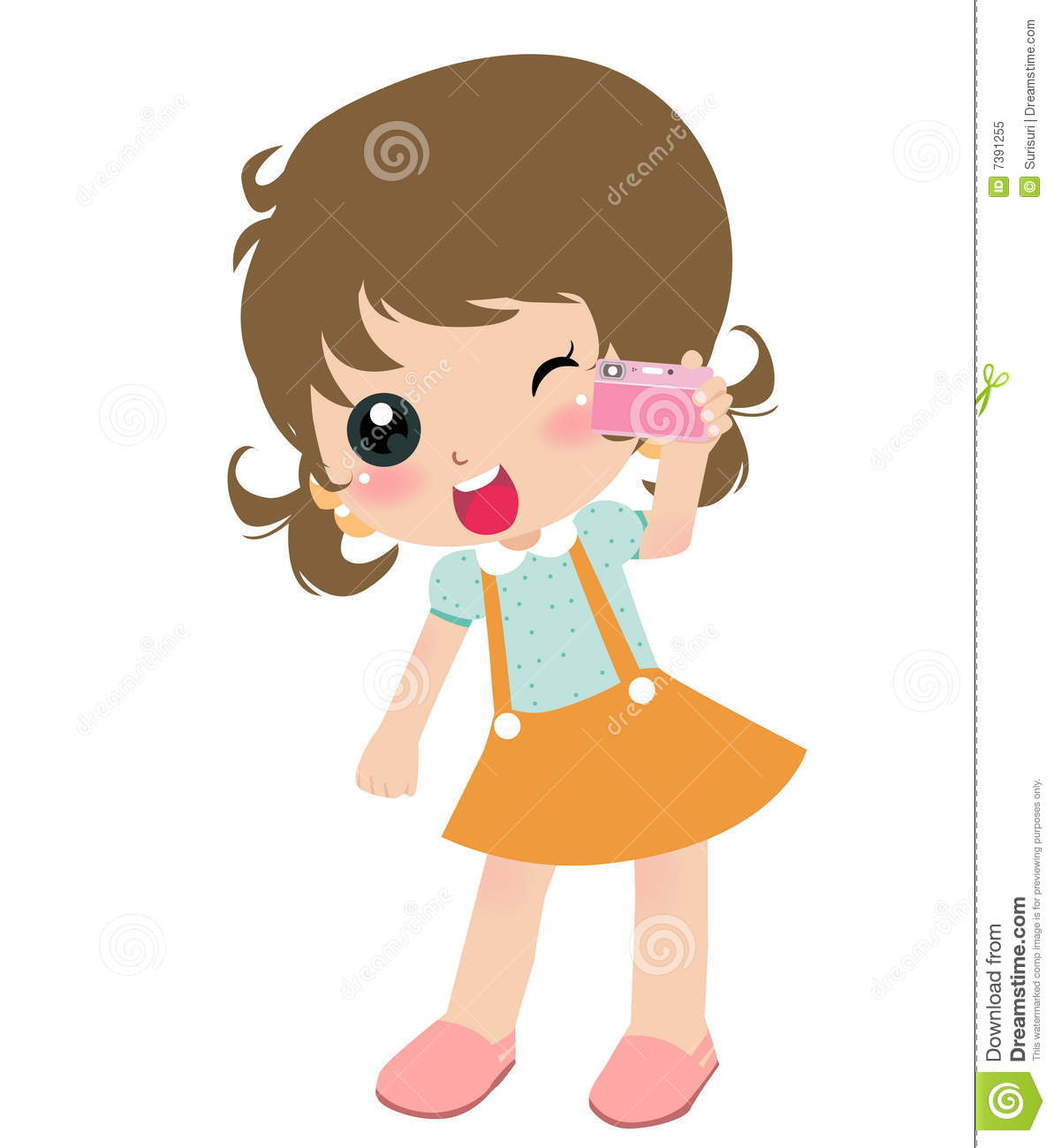 Girl With Camera Clipart.