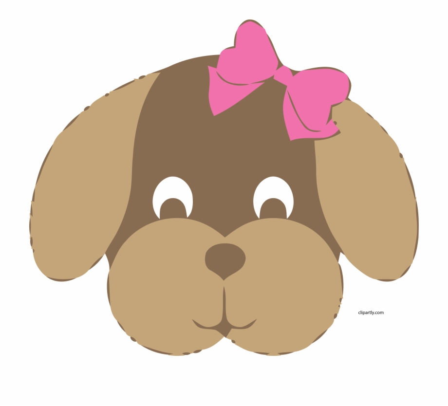 Big Dog Clip Art Girl Dog Face Clipart Cute Sweet Png.