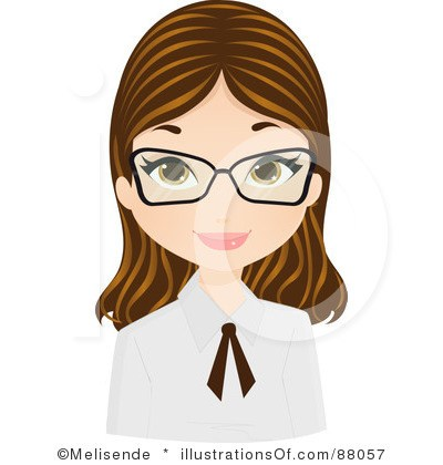 Girl with glasses clipart 2 » Clipart Portal.