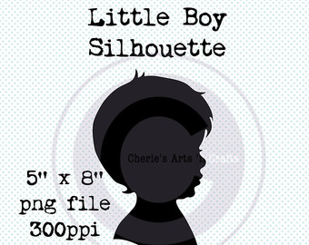 Silhouettes Little Girl With Hair Bow Silhouette Little Girl.