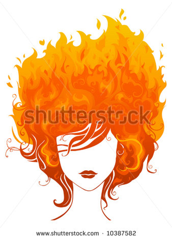 Hair on Fire Clipart (44+).
