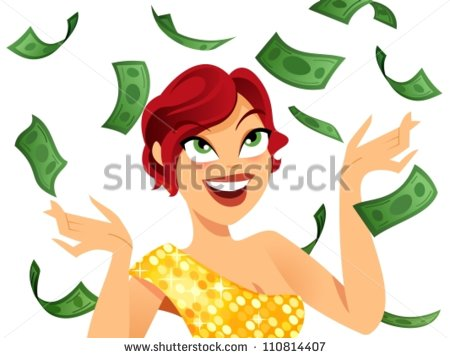 Flying Money Stock Images, Royalty.