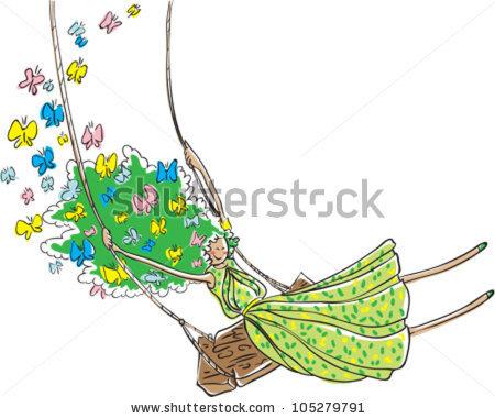 A Girl And Flying Hair Stock Vectors & Vector Clip Art.