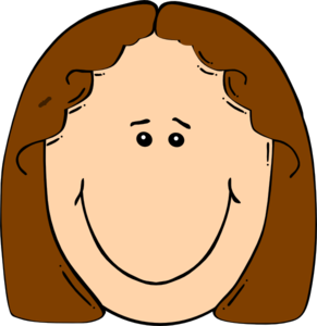 Girl With Straight Hair Clipart.