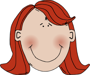 Womans Face With Red Hair Clip Art at Clker.com.