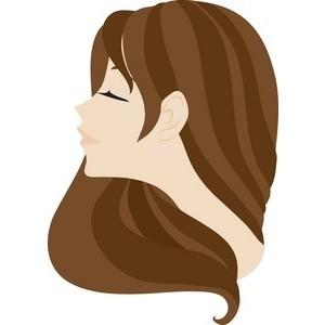 Clip Art Girl Hair.