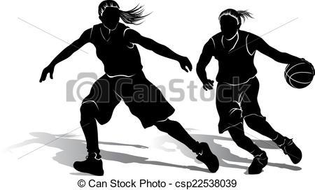 Girls basketball Clipart Vector Graphics. 968 Girls basketball EPS.