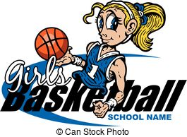 Girls basketball Clipart Vector Graphics. 968 Girls basketball EPS.