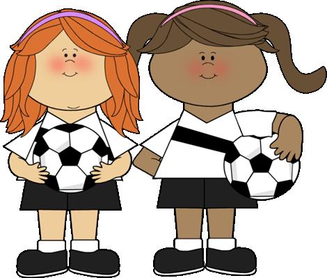 Soccer Girls Clipart.