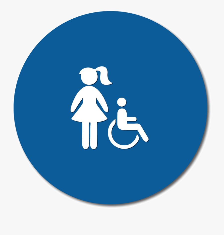 Title 24 Girl S Restroom Door Signs Handicap No Text.