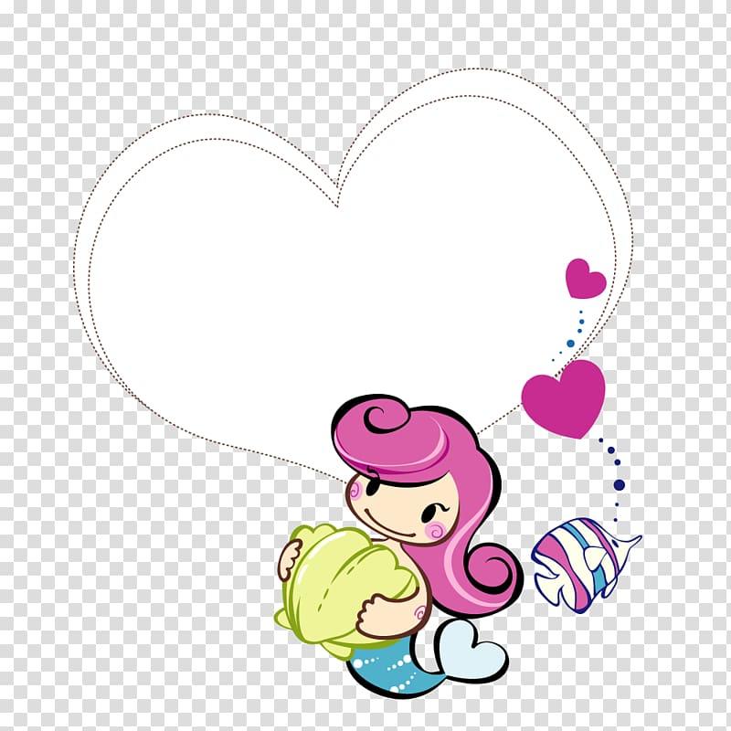 Speech balloon Cartoon Comics, Girls love text border.