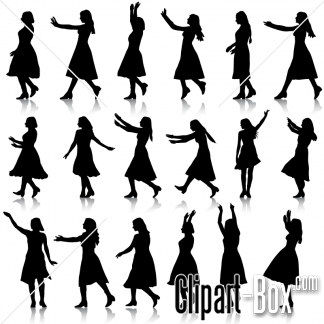 CLIPART GIRLS DANCING.