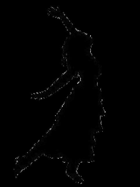 Dancing Girl Silhouette Clip Art.