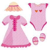 Stock Illustration of Baby set for girl.