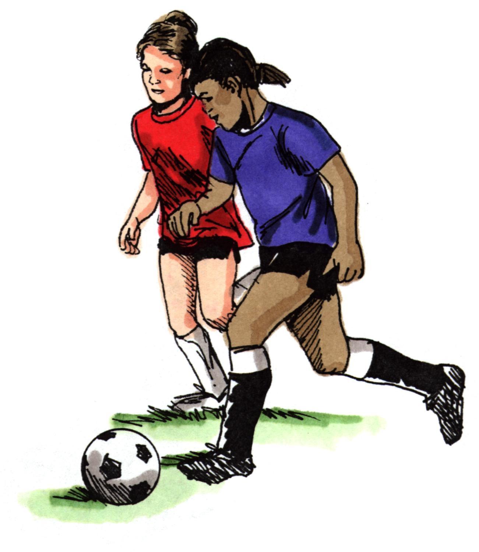 Football Clip Art Girl.