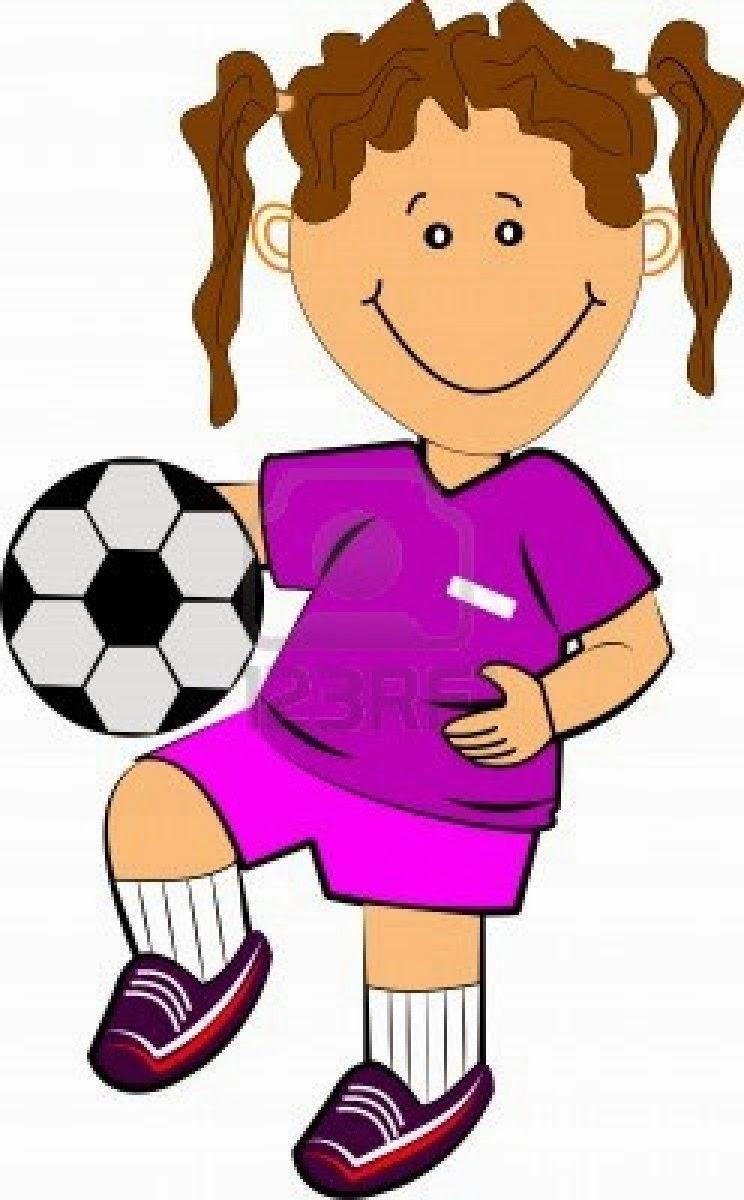 Girl Football Clipart.