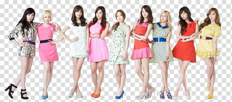 SNSD render, Girls Generation transparent background PNG.