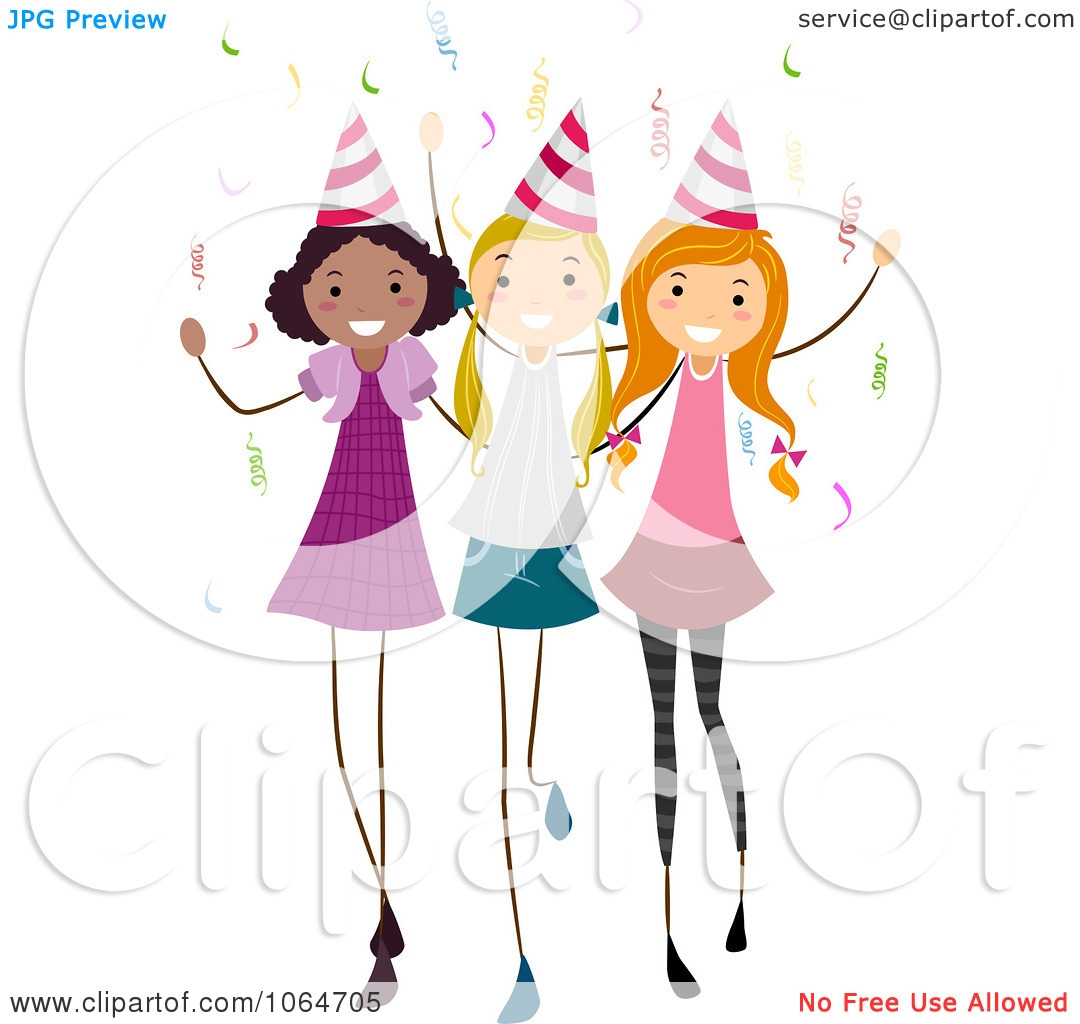 Girls Birthday Party Clipart.