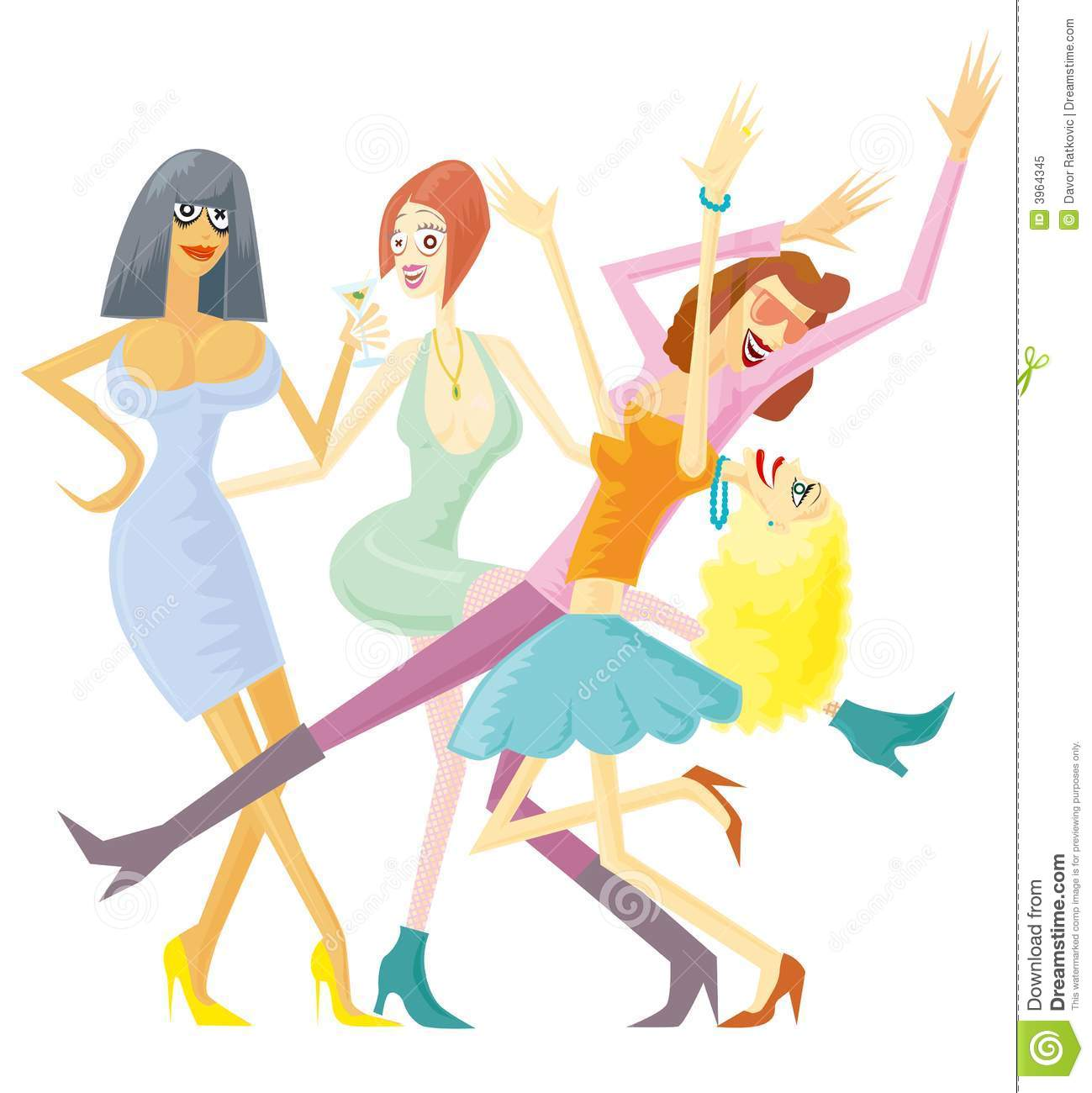 Girls Party Isolated Royalty Free Stock Photo.