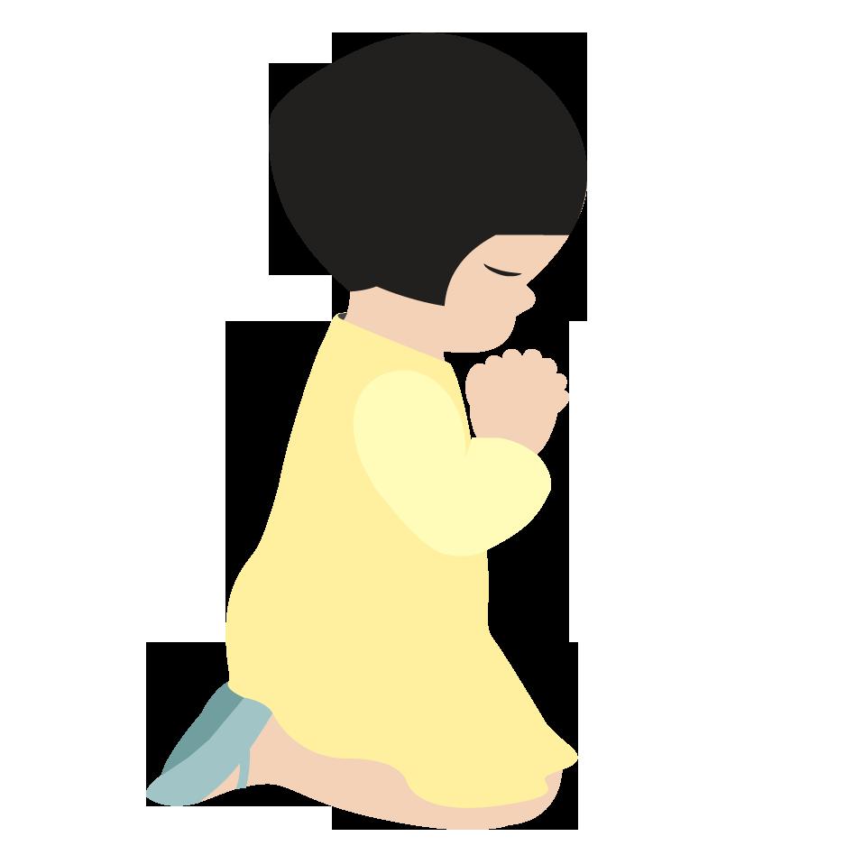 Pix For > Little Girl Praying Clipart.